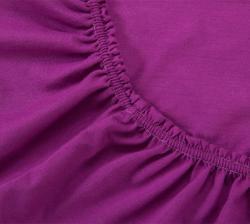 Купить фиолетовую трикотажную простынь