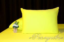 Купить желтые трикотажные наволочки на молнии в Омске