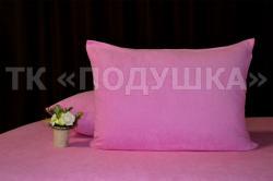 Купить розовые махровые наволочки на молнии в Омске