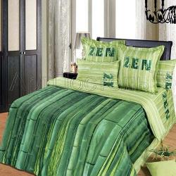 """Постельное белье из сатина """"Зеленый тростник"""" (1,5 спальный, 2-х спальный, евро) ТМ АртПостель, Иваново"""